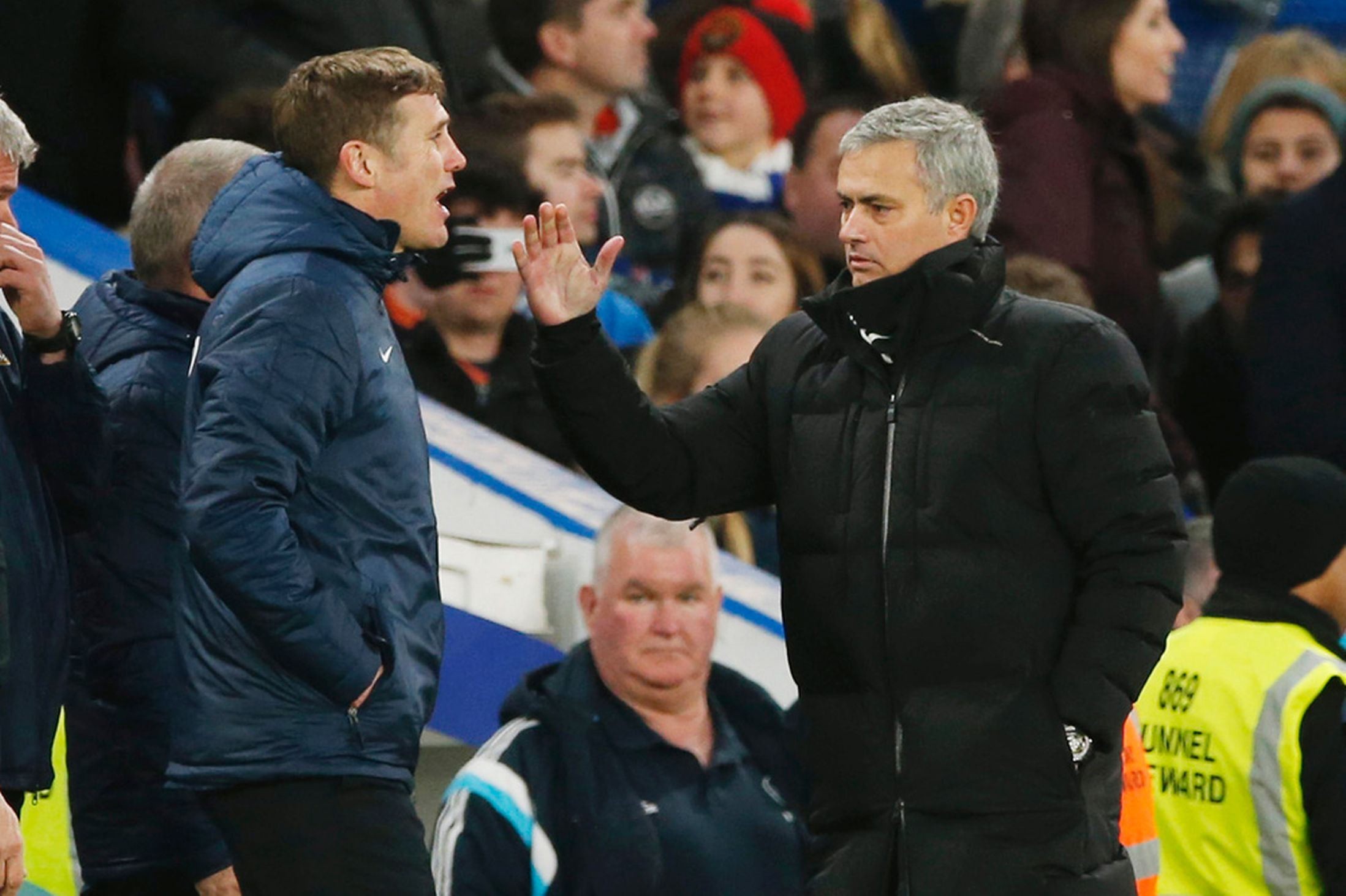 Phil-Parkinson-and-Jose-Mourinho