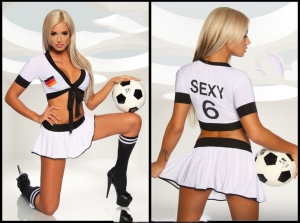Women-football-sexy-school-girl-Cosplay-jacket-dress-costumes-SEXY-WM-TRIKOT-SET-SL1413-Sexy-Costumes