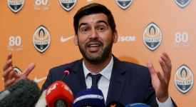 Newly appointed coach of Ukrainian soccer club Shakhtar Donetsk, Paulo Fonseca speaks during a news conference in Kiev