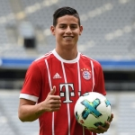Colombian-midfielder-James-Rodriguez-presents-his-new-match-jersey-in-Munich