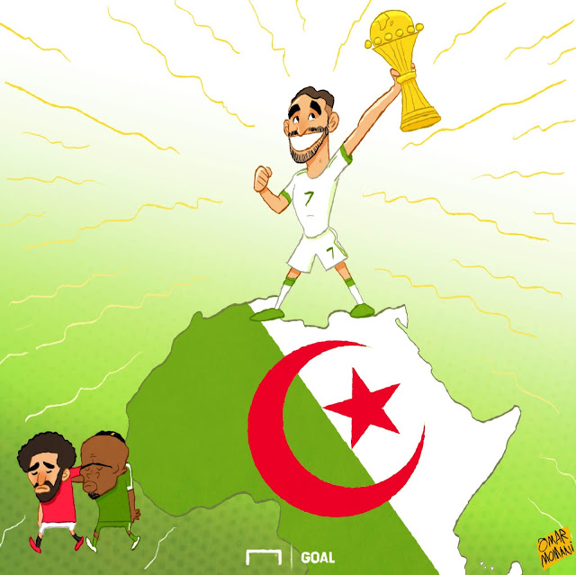Mahrez wins the AFCON copy