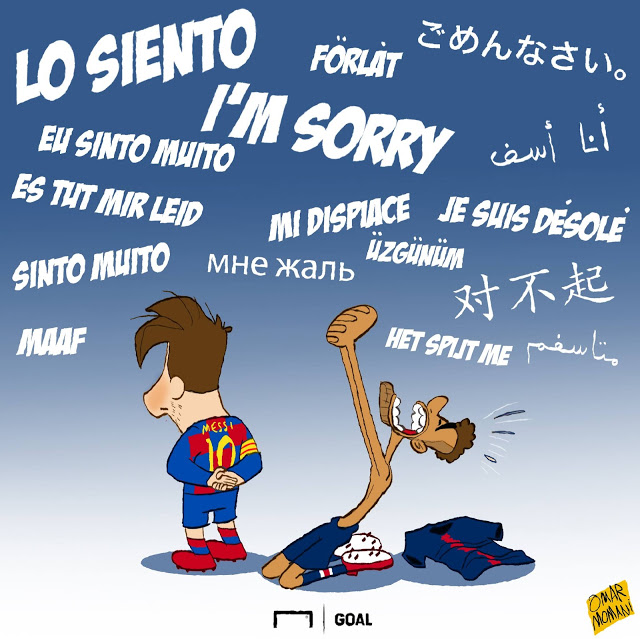 Neymar apologise to Messi copy